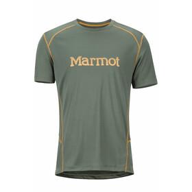 Marmot Windridge Shortsleeve Shirt Men with Graphic olive